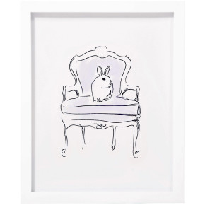 Mlle Lapin Bunny Wall Art Lilac, Pemberley Rose